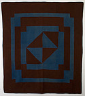 Welsh Geometric Quilt: Circa 1870