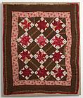 LeMoyne Stars Crib Quilt: Circa 1880; Pennsylvania