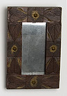 Folk Art Mirror with Hearts; Circa 1880