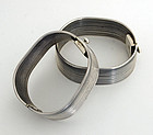Sterling Silver Ribbed Bracelets