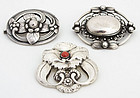 Georg Jensen Silver Brooches