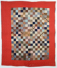 Reversible Quilt- One Patch and Wild Geese; Circa 1880
