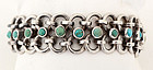 Hector Aguilar Silver Bracelet with Turquoise