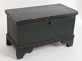 Miniature Painted Blanket Chest: Circa 1850