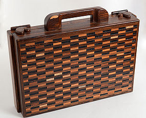 Don Shoemaker Wood Briefcase: Circa 1960