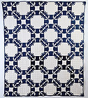 Wandering Foot Quilt: Circa 1880; New York State