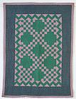Ohio Amish Crib Quilt - Irish Chain; Circa 1920