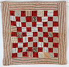 One Patch Doll Quilt: Virginia; Circa 1890
