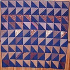 Strip Triangles Quilt: Circa 1880, Pennsylvania