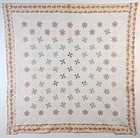 LeMoyne Stars Quilt with Trapunto: Ca. 1830; Pa.