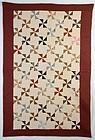 Pinwheels Quilt: Circa 1890; Maryland