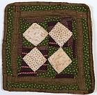 Economy Patch Doll Quilt: Circa 1880; Pennsylvania