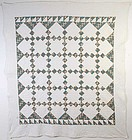 Nine Patch Quilt: Circa 1860; Pennsylvania