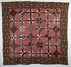 Texas Puzzle Quilt: Circa 1870; Pennsylvania
