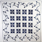 True Lover's Knot Quilt with Trapunto: Circa 1860