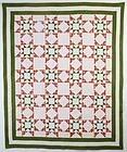 Evening Stars Quilt: Circa 1880; Pennsylvania