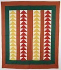 Wild Goose Chase Quilt: Maryland; Circa 1890