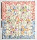 Six Point Stars Doll Quilt: Dated 1934; Delaware
