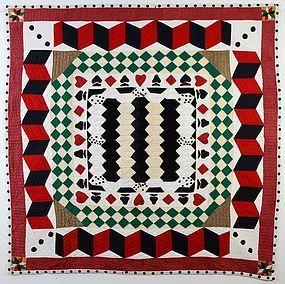 Gambler's Choice Quilt: Circa 1960