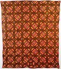 Windmill Blades Log Cabin Quilt: Ca. 1870; N. Carolina