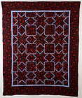 Feathered Stars Quilt: Circa 1880; Pa.