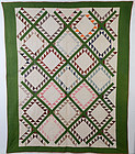 Feathered Diamonds Quilt: Circa 1870; Pa.