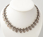 Hector Aguilar Silver Half Oval Necklace