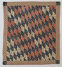 Diamonds Crib Quilt: Ca. 1850
