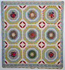 Starbursts Quilt  Circa 1850 Pennsylvania