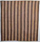 Early Printed Fabrics Bars Quilt: Ca. 1850; Va.
