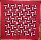 Fence Rail Quilt; Circa 1920; Maryland