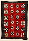 Nine Patch Doll Quilt: Ca. 1890; W.Va.