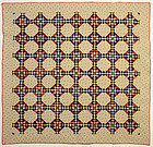 Fortynine Patch Quilt: Circa 1880; Pa.