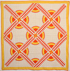 New York Beauty Quilt: Circa 1930; Pensylvania