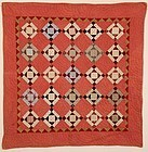 Shadow Boxes Crib Quilt: Circa 1880; Pennsylvania