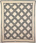 Ocean Waves Quilt: Circa 1880; Ohio