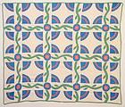 New York Beauty Quilt: Ca. 1920:Pennsylvania