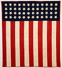 Patriotic Flag Quilt: Made 1911