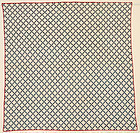 Postage Stamp Nine Patch Quilt: Circa 1890: Pa.