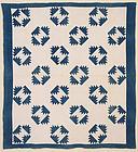 Bear's Paw Quilt: Circa 1880
