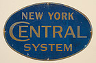Double Sided Sign : New York Central