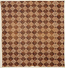 Printed Patchwork Four Patch Quilt: Ca. 1850; Pa.