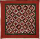 Light and Dark Diamonds Quilt: Ca. 1880; Pa.