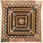 Center Medallion Quilt: Circa 1820