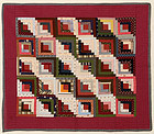 Straight Furrows Log Cabin Crib Quilt: Ca. 1880: Pa.