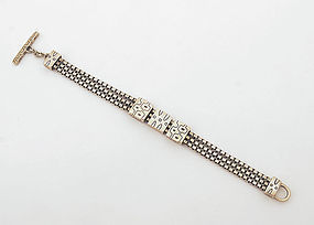 Lisa Jenks Sterling Silver Bracelet: Circa 1980's
