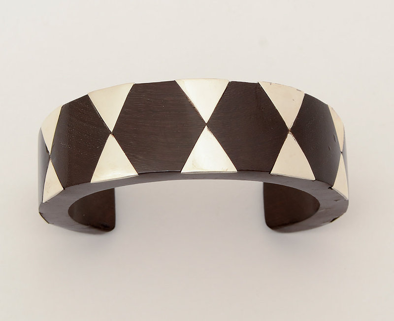 Sterling Silver and Ebony Cuff Bracelet