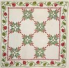 Laurel Leaf Quilt: Circa 1860; Pennsylvania