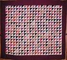 Reversible Triangles Quilt; Md.; Ca. 1900;