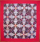 Pineapple Log Cabin Quilt; Circa 1870; Pa.